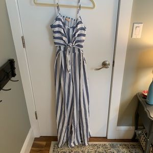 A.Calin Flying Tomato Nautical Stripe Jumpsuit